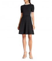 Sandro Uigi Jewelled Collar Short Knit Dress