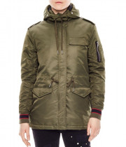 Sandro Vitalic Faux Fur-Trim Shell Parka Coat