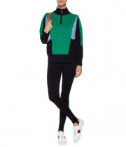 Sandro Wave 1 Ambitieux Zip-Up Colorblock Sweater