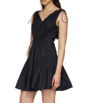 Stella McCartney Gemma Drawstring Empire-Waist Mini Dress