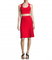 T by Alexander Wang Stretch A-Line Flare Skirt