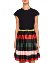 Ted Baker Aneli Cruise Stripe-Detail Dress