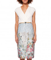 Ted Baker Macal Patchwork Wrap Dress