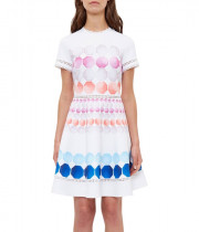 Ted Baker Myley Marina Mosaic Skater Dress