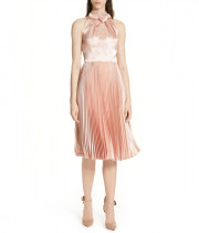 Ted Baker Shineey Bow Pleated Midi Dress
