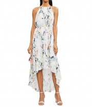 Ted Baker Valetia Dip Hem Floral Pleated Dress