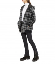 The Kooples Hooded Check Jacket