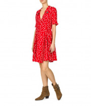 The Kooples Polka Dot Embellished Collar Dress