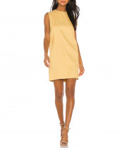 Theory Luxe Linen Blend Column Shift Mini Dress