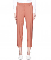 Theory Treeca 2 Cropped Stretch Wool Tapered Pants
