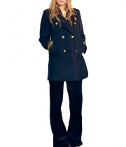 Tommy x Gigi Wool-Blend Peacoat
