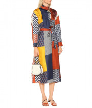 Tory Burch Bianca Patchwork Waist Tie Dress