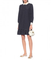 Tory Burch Cora Polka-Dot Silk Shirtdress