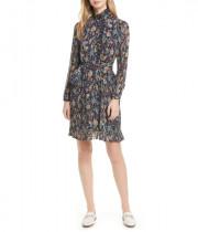 Tory Burch Deneuve Floral-Print Plissé Dress