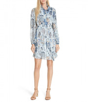 Tory Burch Deneuve Ruffle-Trim Floral-Print Dress
