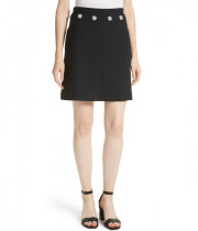 Tory Burch Fremont Jewel Button Mini Skirt