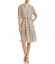 Tory Burch Serena Printed Silk Dress