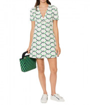 Tory Burch V-Neck Tie Detail Pier Dress