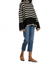 Totême Signature Stripe Turtleneck Sweater