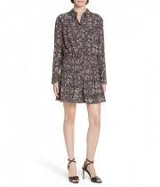 Veronica Beard Rory Stretch Silk Shirtdress