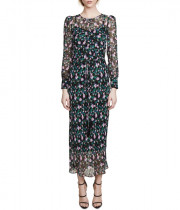Veronica Beard Tatum Floral Midi Dress