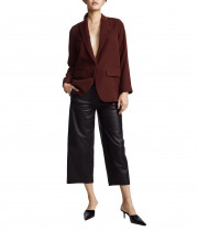 Vince High-Rise Cropped Leather Culottes