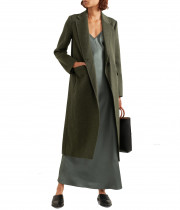 Vince Long Brushed-Wool Coat
