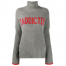 Zadig & Voltaire Alma Intarsia Letters Merino Wool Turtleneck Sweater